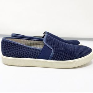 Vince navy blue slip on shoes